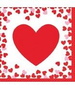 Confetti Hearts Valentines Day 16 Ct Beverage Napkins - $2.96
