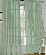 """Sage Elegant Comfort® Rod Pocket Sheer Panels Pkg of 2 - 40"""" X 84""""  - $8.95"""