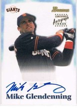 2000 Bowman Draft Picks Autographs #BDPA18 Mike Glendenning Rookie Card Auto  - $8.87