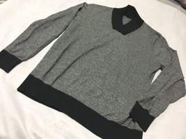 Sean John Men's Black Gray Shawl‑Collar Sweater 100% Cotton 2XL - $15.79