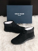 New COLE HAAN ZeroGrand Perforated Mid Trainers Black Suede Women's 7.5B... - $70.13