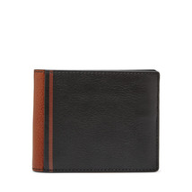 fossil man genuine leather wallet Jerome Flip ID Bifold - $20.00