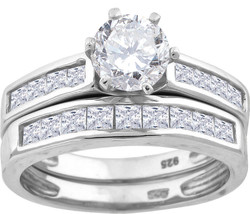 Sterling Silver Womens Round Cubic Zirconia CZ Solitaire Bridal Wedding ... - $70.00