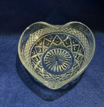 Imperial Glass Cape Cod valentine heart shaped crystal clear candy dish - $8.90