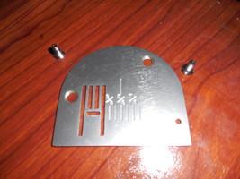 Necchi 535FA Free Arm Needle Plate #NZ535FA w/Feed Dog #10471 & Screws - $15.00