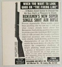 1978 Print Ad Benjamin Single Shot Air Rifles Made in St Louis,MO - $8.24