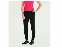 Champion Women's Jersey Pocket Pants Black Small M0590 Cuffed Left Thigh... - $17.05