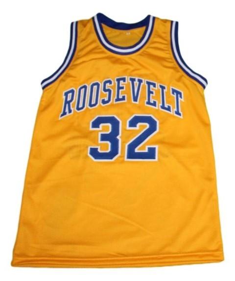 J. erving  32 roosevelt high school new men basketball jersey yellow   1