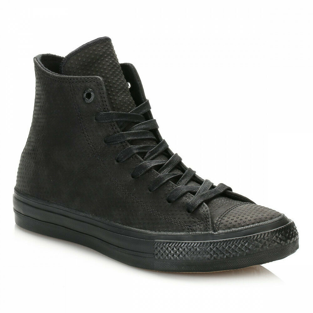 Primary image for Converse Chuck Taylor All Star II Hi Black Gum Lunarlon Womens Size 8 155762C
