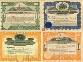 16 USA American Stock Share Certificate Oil Mining Pharmacy Company Collection  image 3
