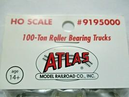 Atlas # 195000 (9195000) 100 Ton Roller Bearing Trucks 1 Pair  HO Scale image 2