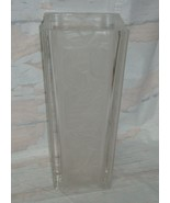 "Mikasa GARDEN SPLENDOR 9.5"" Frosted Crystal Vase , Just Beautiful - $19.79"