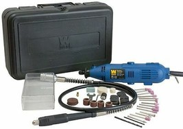 Complete Rotary Dremel Kit Accessories Variable Speed 80 Pieces w/Flex S... - $37.05