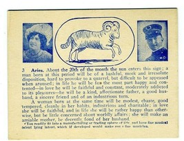Vintage Aries Horoscope Card 1900's - $10.89