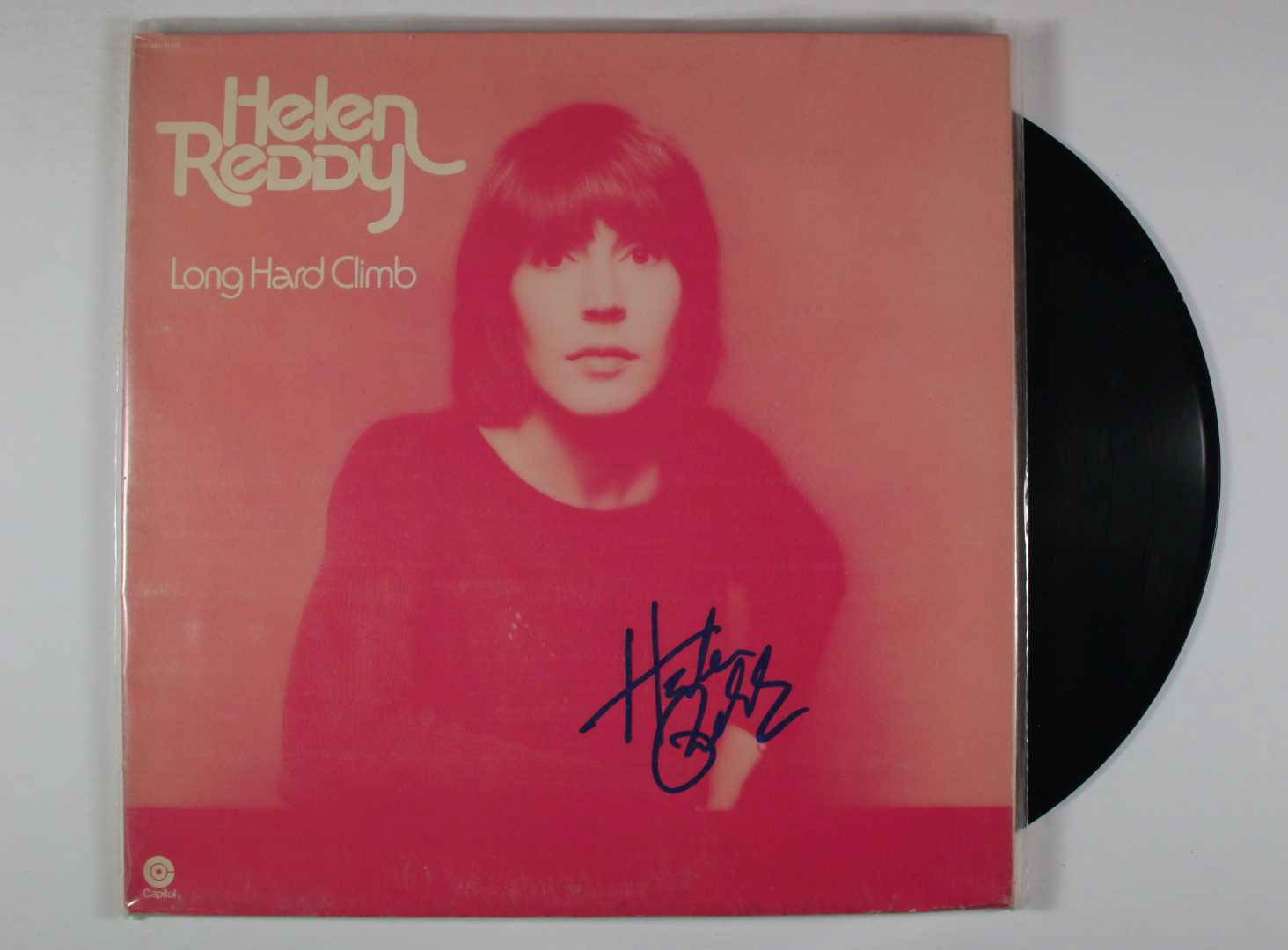 "Primary image for Helen Reddy Signed Autographed ""Long Hard Climb"" Record Album"