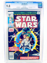 STAR WARS #1 COMIC BOOK:  JULY 1977 - GRADED CGC 9.8 - WHITE PAGES! - $1,645.42