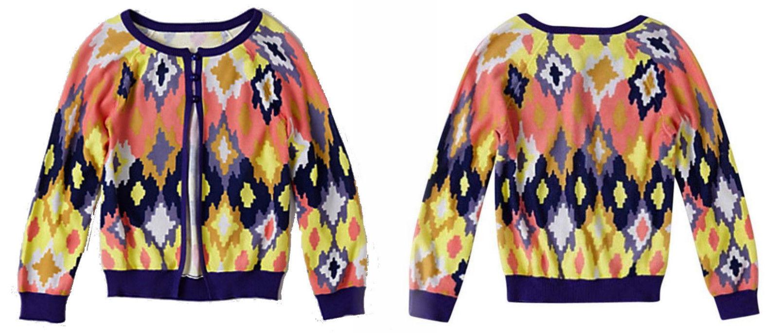 Anthropologie Flickered Ikat Cardigan Medium 6 8 Tracy Reese Buttondown Sweater - $83.30