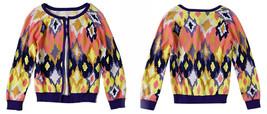 Anthropologie Flickered Ikat Cardigan Medium 6 8 Tracy Reese Buttondown ... - $101.15