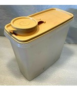 Tupperware..Cereal Keeper #469..Sheer w/Tan Top Pour Seal/Lid...13 Cup - $9.89