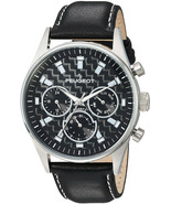 Peugeot Men's 'Multi Dial' Quartz Stainless Steel And Leather Sport Watch, - $182.65