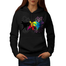 Cat Contrast Prism Sweatshirt Hoody Animal Form Women Hoodie - $21.99+