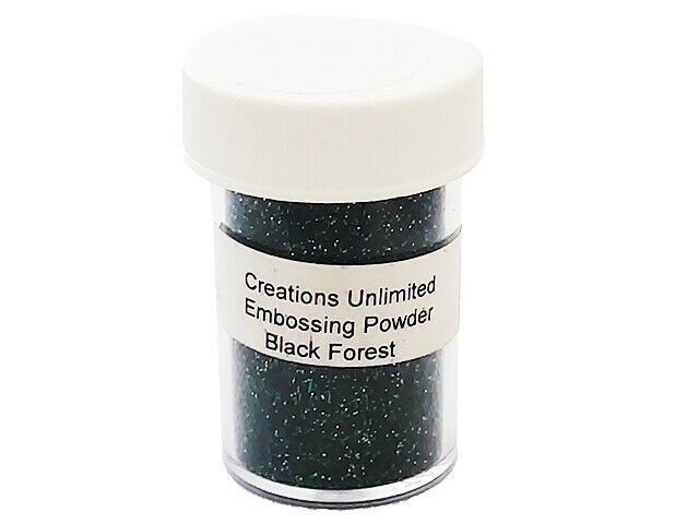 Creations Unlimited Sparkling Embossing Powder, Black Forest