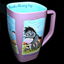Disneyland Winnie the Pooh Eeyore Disney Another Blustery Day Lilac Coffee Mug - $36.99