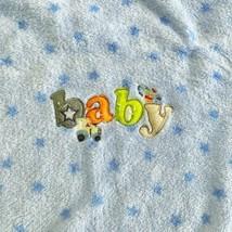 SNUGLY Baby Blanket Stars Airplane Car Blue SOFT Plush Blanket Security ... - $44.54