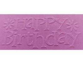 Sizzix Metal Embossing Plate, Happy Birthday #654525 image 2