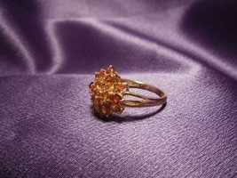 Vintage Citrine Gemstone 14K Gold Ring Size 9 - $247.50