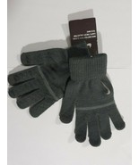 Nike Knitted Grip Tech Gloves Grey Light Grey Swoosh Youth S/M Unisex new - $15.68