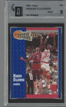 1991 Fleer #223 Hakeem Olajuwon GAI 9 Mint  - $19.35