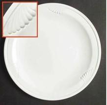 "Corning Pyroceram Cordon Blanc 7"" Dessert / Bread Plates White Set Of 2 - $9.49"