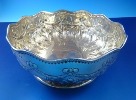 Sterling Silver Hand-Chased Bowl Made in Dublin  Cir. 1886 - $795.00
