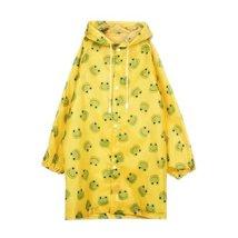 Frog Cute Baby Rain Jacket Infant Raincoat Toddler Rain Wear YELLOW M