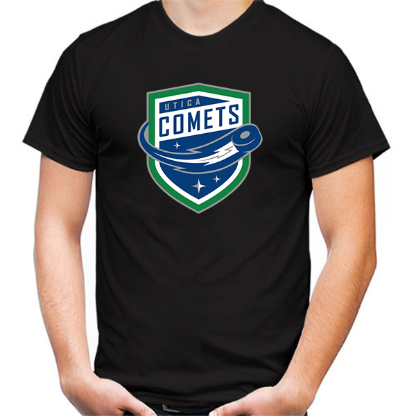 Primary image for Utica Comets Tshirt Black Color Short Sleeve Size S-3XL
