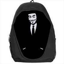 backpack anonymous v for vendeta school bag bookbag  - $39.79