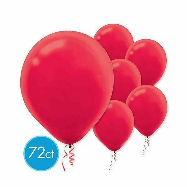 "Primary image for Apple Red Latex Round Balloons 12"" 72 Ct"