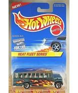 1997 Hot Wheels #538 Heat Fleet Series 2/4 SCHOOL BUS Green w/5 Spoke Ma... - $8.50