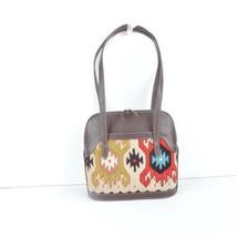 Kilim Bag,Brown Leather Handbag, Shoulder Bag handbag ,leather and kilim bags - $199.00