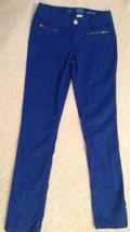 SO Brand Blue Skinny Pants Girls Sz 10 Adj Waist w/ Stretch Free Shippin... - $12.99
