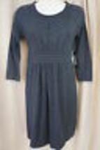 Spense Petite Sz PXS Heather Charcoal Grey Sweater Dress Casual - $39.53