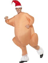 Men's Inflatable Christmas Roast Turkey, Christmas Fancy Dress, One Size, Mens - $74.03