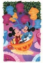 Disney WonderGround Mickey Minnie Tea Cups Date Night Print Griselda Sas... - $74.38