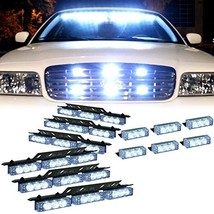 DT MOTO™ White 54x LED Emergency Vehicle Deck Grill Dash (White/White) - $49.21