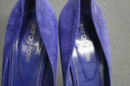 Women's Purple/Violet Blue Suede Sergio Rossi Stilleto Pumps (39) Heels Italy image 4
