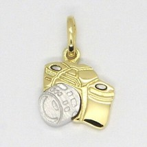 White Yellow Gold Pendant 750 18k, Camera, Made in Italy image 1