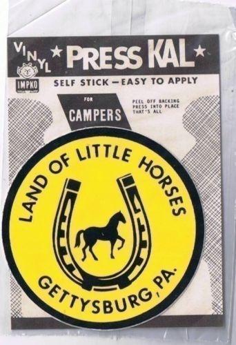 "Decal Land of Little Horses Gettysburg Pennsylvania Vinyl 3"" Diameter"