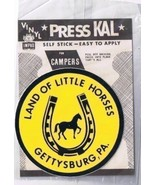 "Decal Land of Little Horses Gettysburg Pennsylvania Vinyl 3"" Diameter - $1.89"
