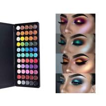 MISS ROSE 55 Color Eyeshadow Palette Silky Powder Natural Shimmer Make u... - $15.99